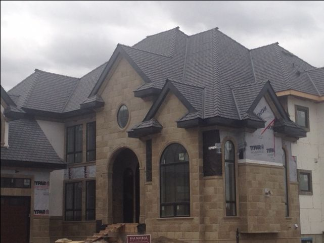 EuroSlate in #Black #Slate  #roof #authenticlook #rubber #roofingmaterial #lifetimewarranty #contractor #shingles #renos #home #design #durable #affordable #premiumroofing