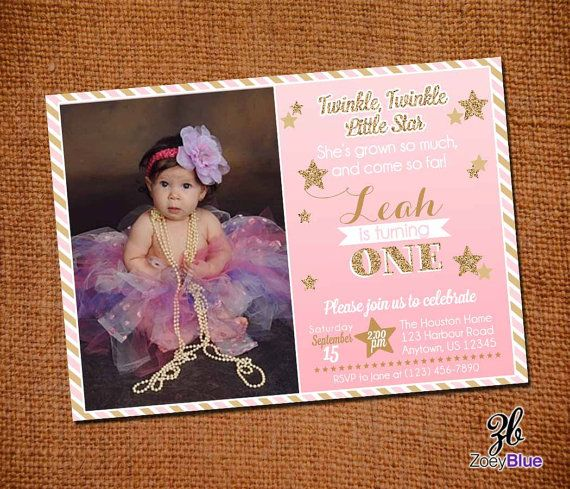 Best First Birthday Ideas Images On Pinterest Birthday Ideas - 1st birthday invitations girl purple