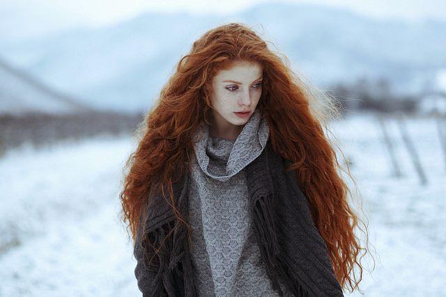 Most Beautiful Natural Redhead  Icelandic Women  Ign -6226