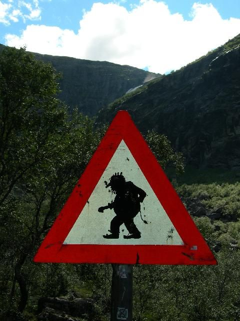 Trolls crossing. To be found just before entering the Trollstigen, Norway.
