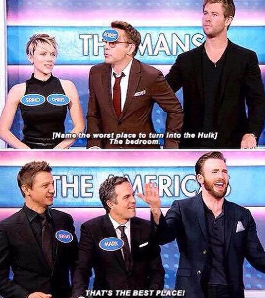 Avengers Cast make an awesome family.