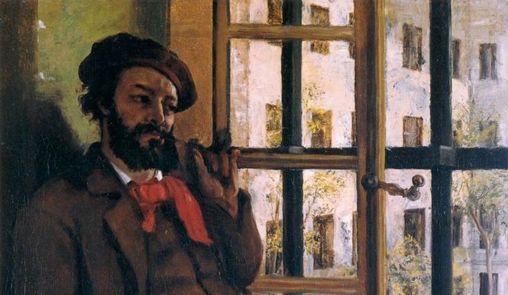 Self portrait - Gustave Courbet ~Via Niels Hiort