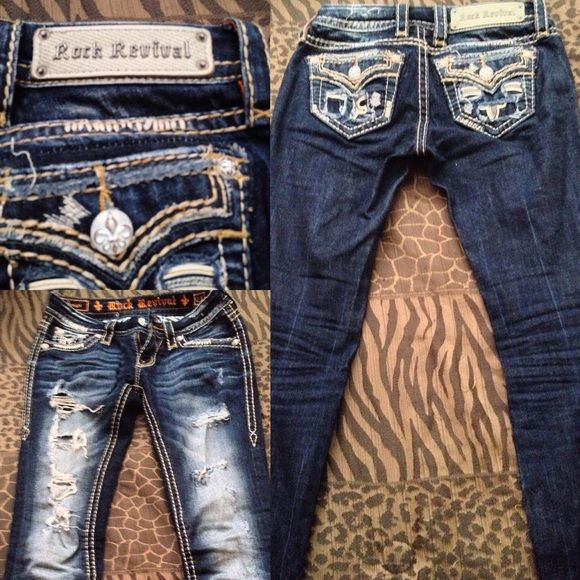 Rock Revival Only worn once & washed once! Rock Revival Jeans Straight Leg