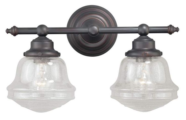 View the Vaxcel Lighting W0189 Huntley 2 Light Wall Sconce with Seedy Glass…