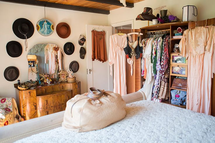 Vanessa's Vintage Bohemian Hilltop Home.  Love how the accessories are used to decorate...