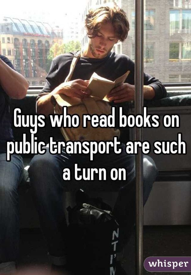 Guys who read books on public transport... from 31 Confessions Any Book Lover Will Understand
