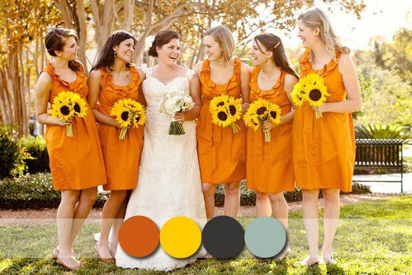 Top 6 Most Flattering Bridesmaid Dress Colors in Fall 2014~2015