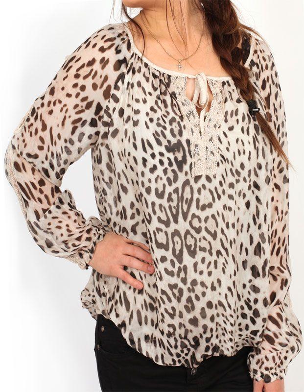 Tunika Spets - Leopard