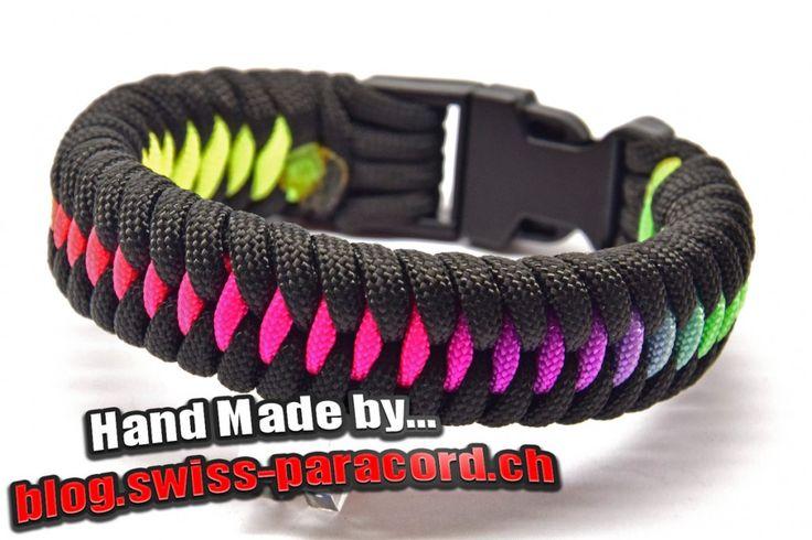 Rainbow Dragon's Teeth und Tutorial   Swiss Paracord