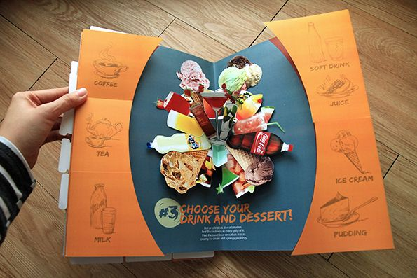 Pop Up Pizza Menu Book on Behance