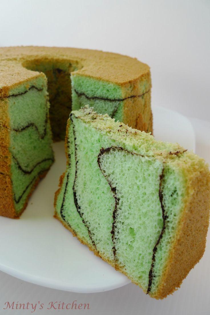 Coco-Pandan Chiffon Cake