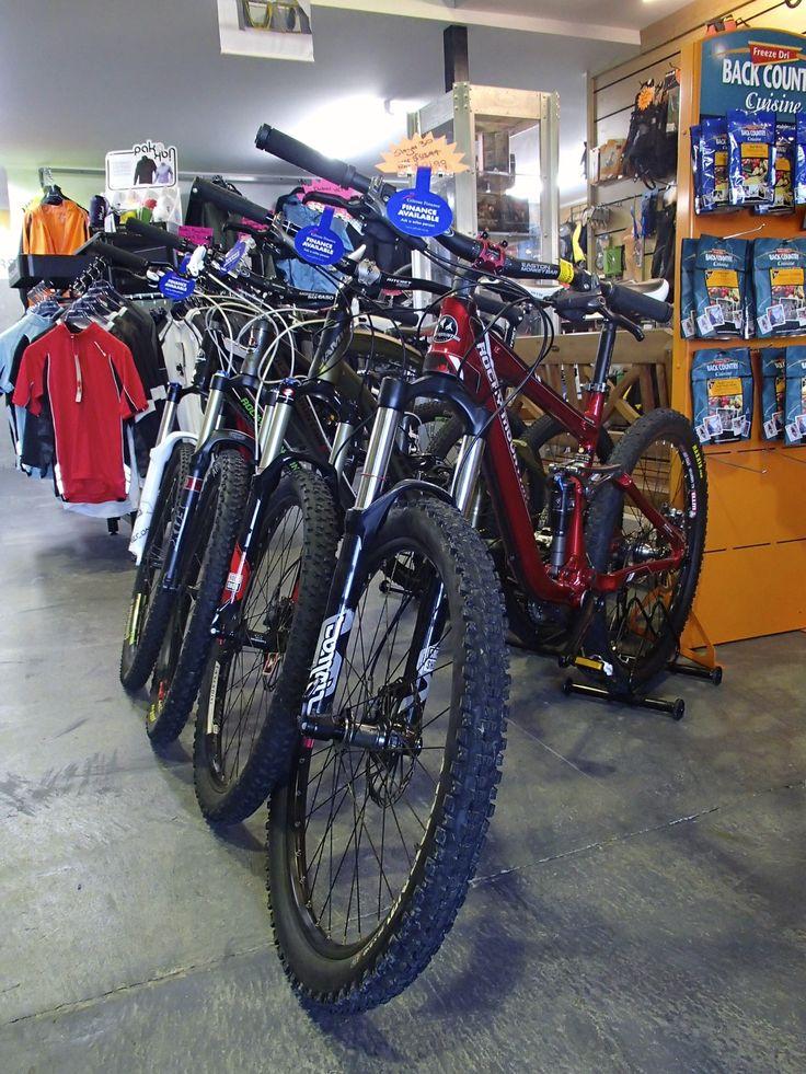 A few of our full suspension mountain bike range