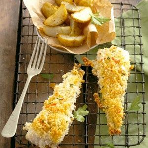 Fish with crumb topping