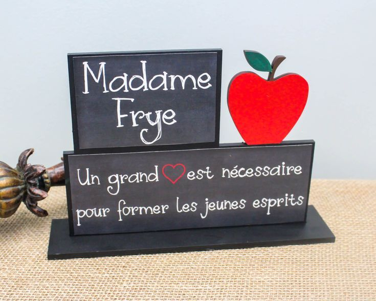 Personalized French Teacher Gifts, Teacher Appreciation Gift, End of School Year French Teacher Gift Idea, Teacher Retirement Gift