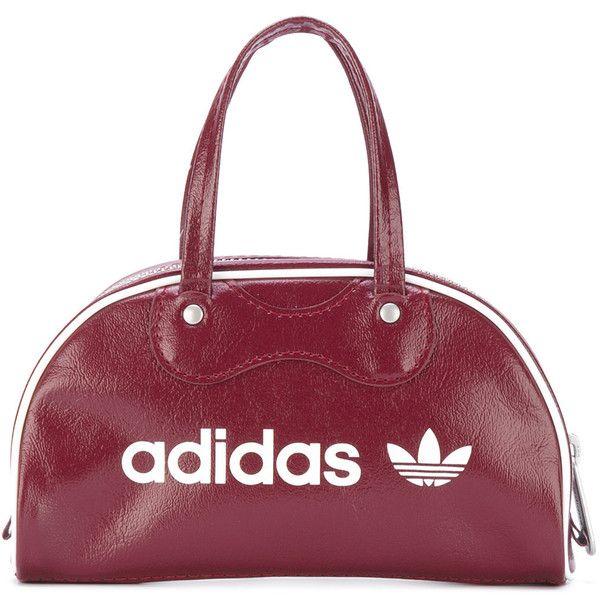 Adidas Originals mini Athletes bag ($52) ❤ liked on Polyvore featuring bags, handbags, tote bags, zip top tote, tote purses, mini purse, round handbags and tote bag purse