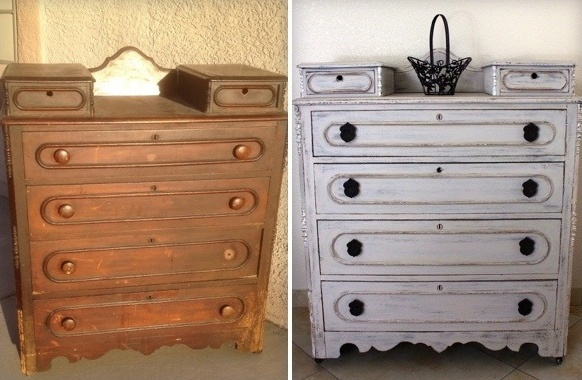Before & After: Antique Six Drawer Chest: