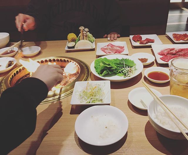 焼肉🍗🍖 おいしかったー🙌💕 #ワンカルビ #肉#楽しい #仕事終わり