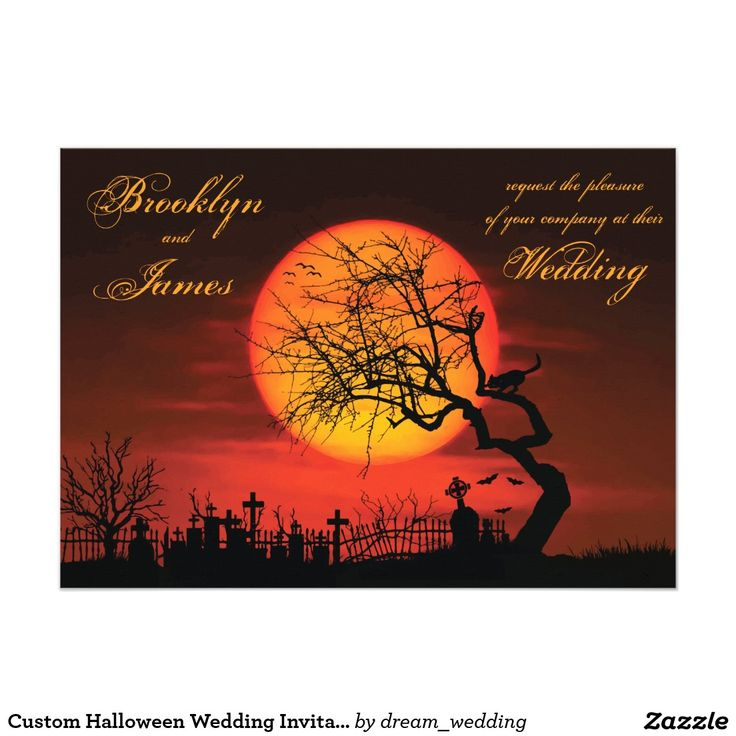 wedding invitation rsvp what does m mean%0A Custom Halloween Wedding Invitations Night