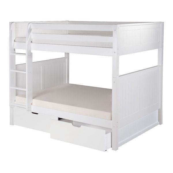 camaflexi full over full bunk bed with drawers and panel headboard reviews wayfair etagenbetten mit schubladenvolle etagenbettenmdchen - Hausgemachte Etagenbetten Fr Mdchen