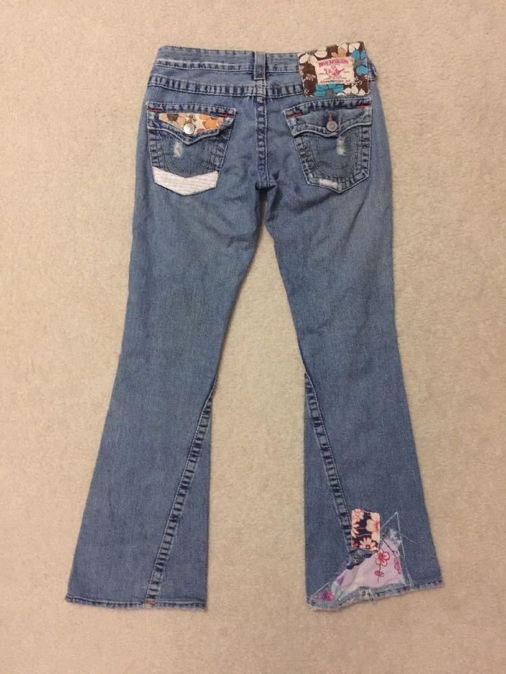 True Religion Woodstock Women's Twisted Flare Jeans Sz 27   eBay