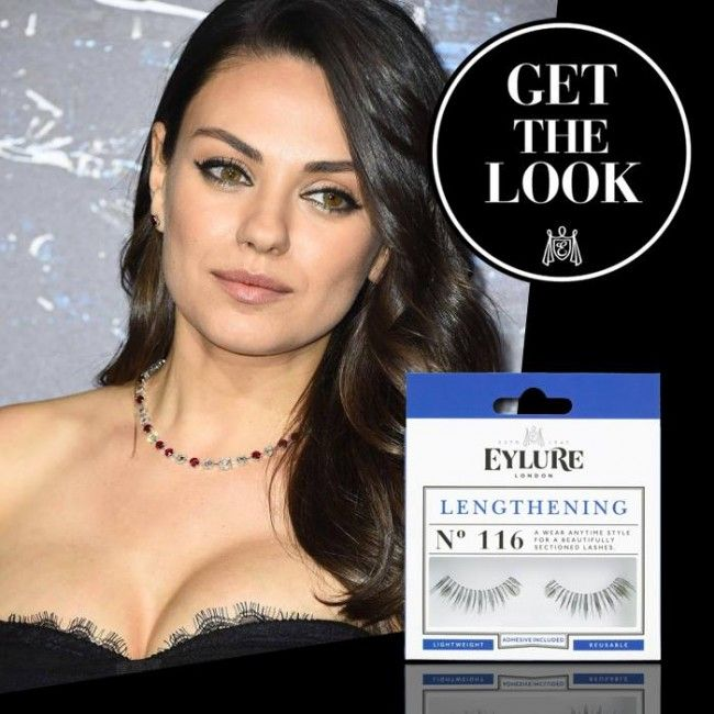 Get the 'Mila Kunis' look met de Eylure Lengthening lashes # 116