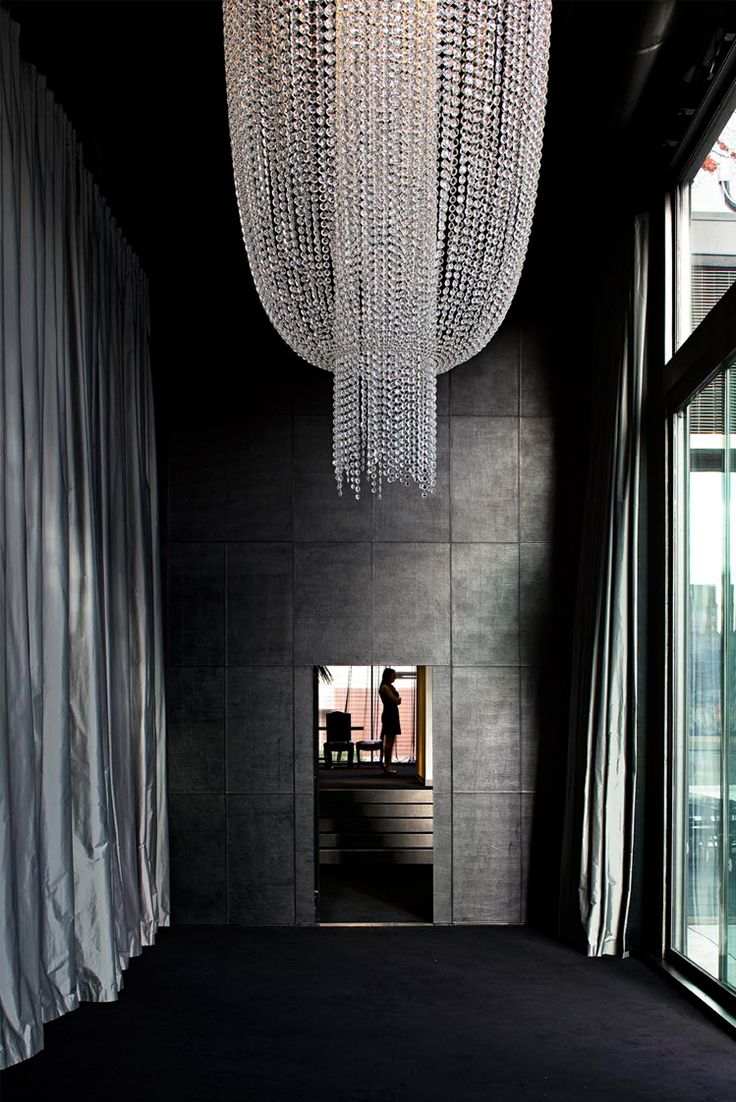 penny hay: Spaces, Architects, Lights Fixtures, All Black, Auckland, Interiors Design, There Are, Crystals Chandeliers, Dark Wall
