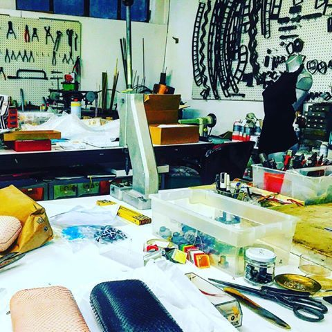 WORK IN PROGRESS... MARQUIS AN'DOGE Concept MADE #togheter #lab #made #laboratorio #artigianato #madeinitaly #top #pochette #necklace #fantasy #belt #bag #vivimilano #milano #follow #instagood #instadaily #tagsforlikes #picoftheday