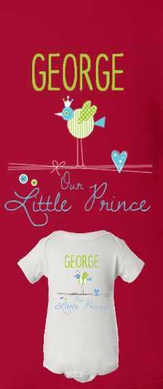 Personalized Gift Idea For Your Little Prince.  See Custom Work On Screen Before You Order.