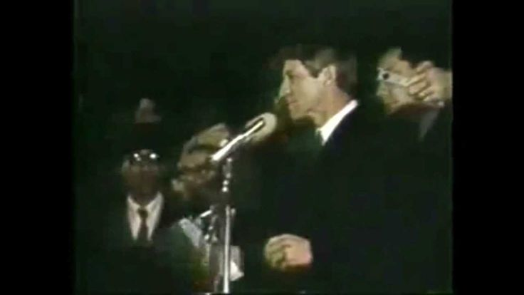 The Greatest Speech Ever - Robert F Kennedy Announcing The Death Of Martin Luther King Jr, campaign rally, 17th & Broadway, Indianapolis, 1968