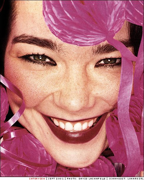 Bjork on Interview photo by David LaChapelle