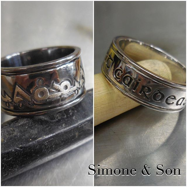Check Out These Custom Mens Wedding Bands That We Made Recently Personalized With Script In Different Languages