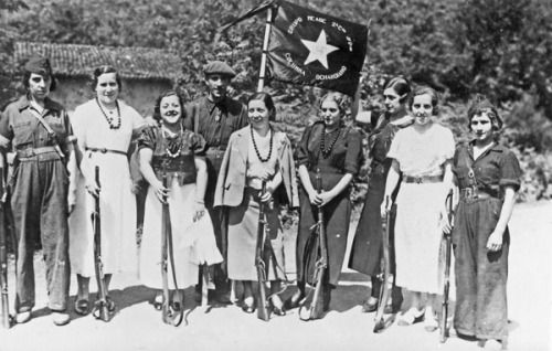 Basque anarchist militia, August 1936. The North would fall to Francoist forces just over a year later.