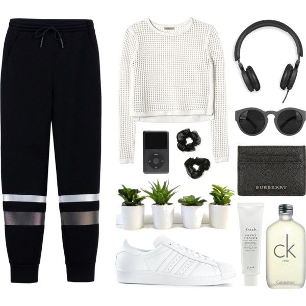 casual by annasophierose on Polyvore featuring Rebecca Taylor, T By Alexander Wang, adidas, Burberry, B&O Play, NOVA, CK One and Fresh