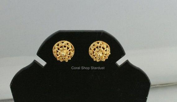 14 k gouden oorbellen Dubrovnik filigraan door CoralShopStardust