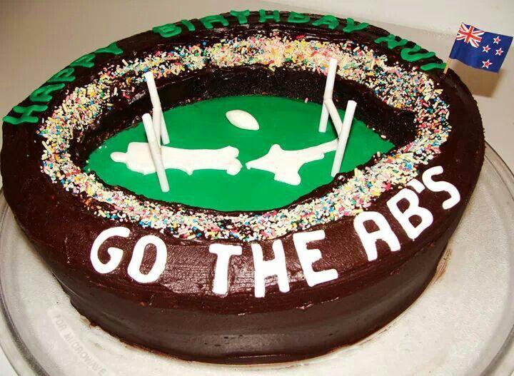 All Blacks Birthday Cake.