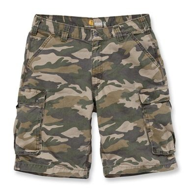 These Carhartt rugged cargo camo shorts, are not just stylish with their camouflage pattern, they are also comfortable. Designed to sit slightly below the waist, with a relaxed seat and thigh. Also feature a multitude of useful pockets.