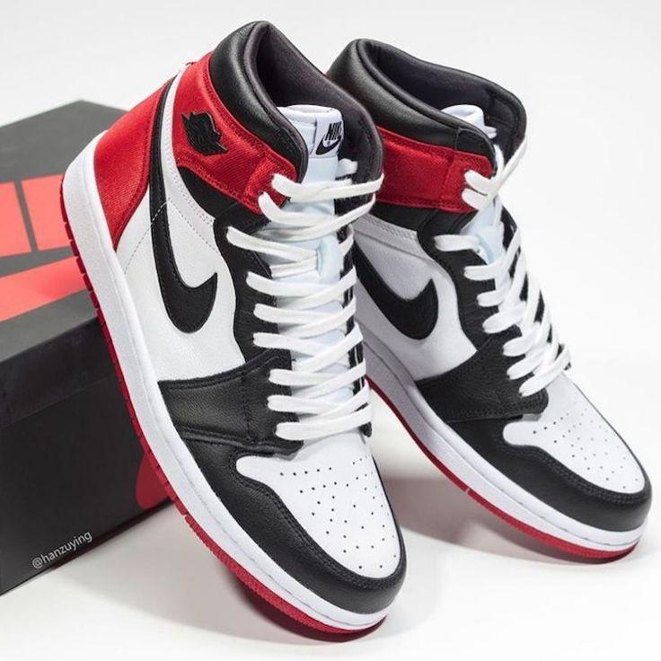 Jordan 1 Satin Black Toe | Air jordans retro, Sneakers, Air jordan ...