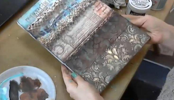 Вебинар мастер-класс Натальи Жуковой Фактурные эффекты в Микс медиа панн...
