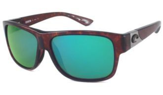 Costa Del Mar Sunglasses - Caye- Glass / Frame: Tortoise Lens: Polarized Green Mirror 400 Glass Costa Del Mar