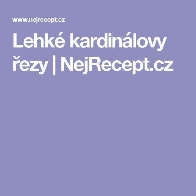 Lehké kardinálovy řezy | NejRecept.cz