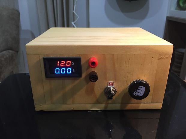 A simple adjustable bench power supply I built to help me with my electronics projects.