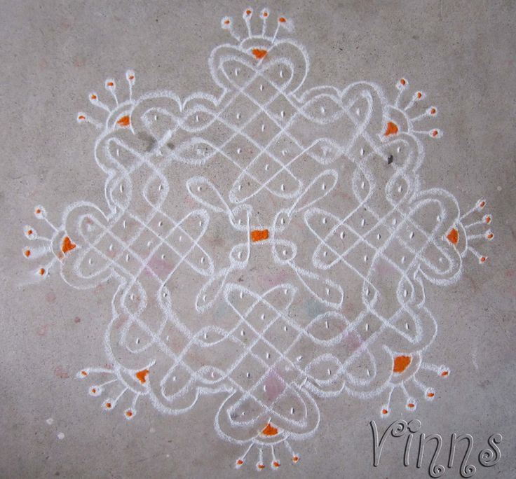 10 Dots sikku kolam.. One of my favourite  designs