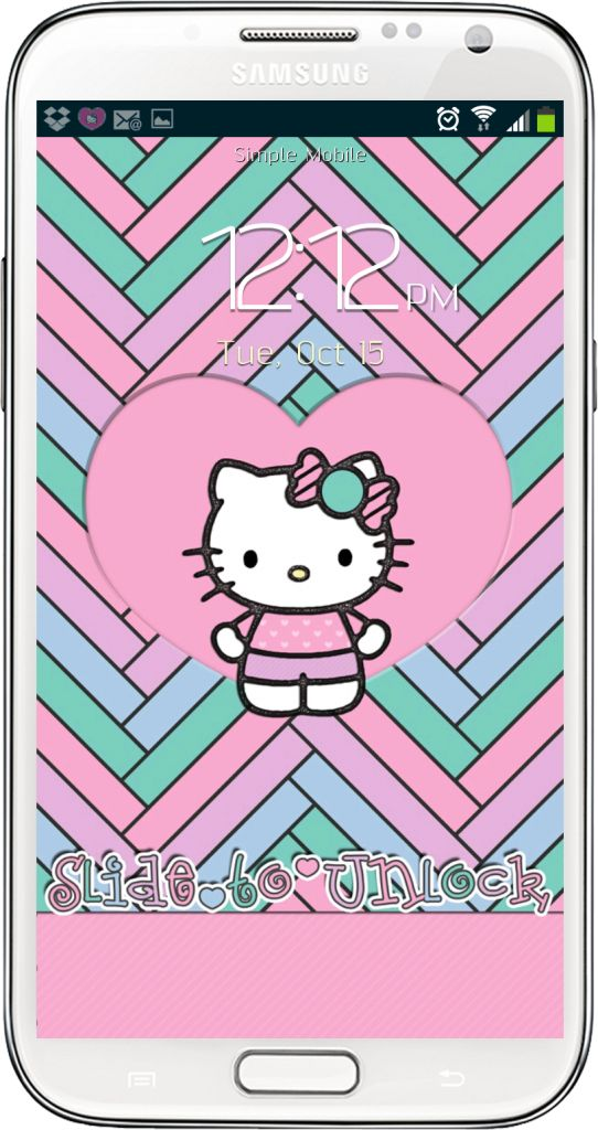 Hello Kitty Pastel Wallpaper and Android Homescreen