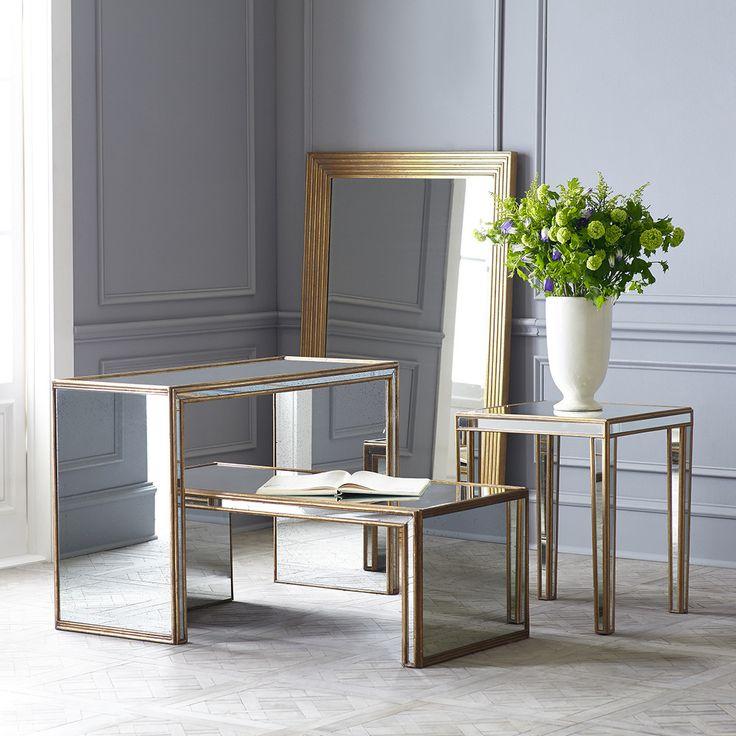 Elegant Antiqued Art Deco Coffee Table Images