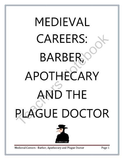 Medieval Careers: Barber and Apothecary from