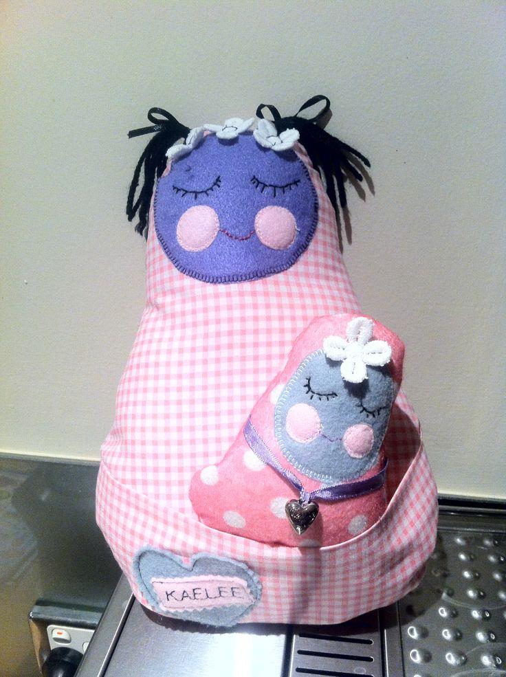 Babushka doll & baby.