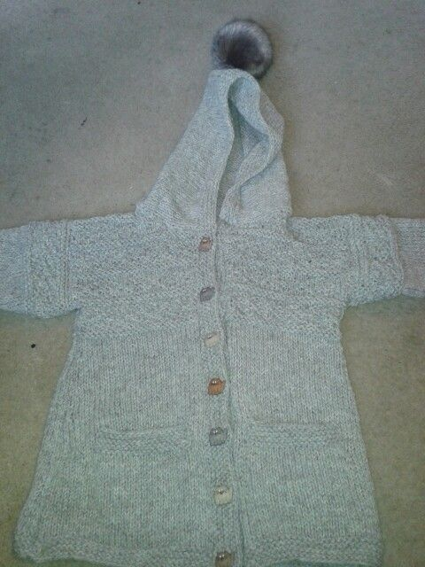 Guernsey style hooded coat