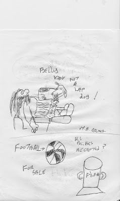 #GHOSTMANS CARTOONS ARE US BLOGSITE: belly dog and football for sale cartoon