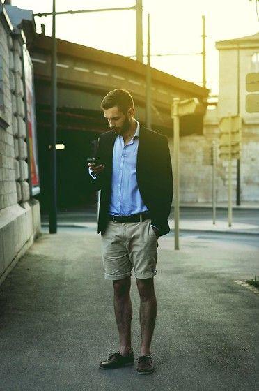 Josselin Pocheron - Zara Blazer, Primark Shirt, Zara Belt, Suit Short, Primark Shoes - Casual