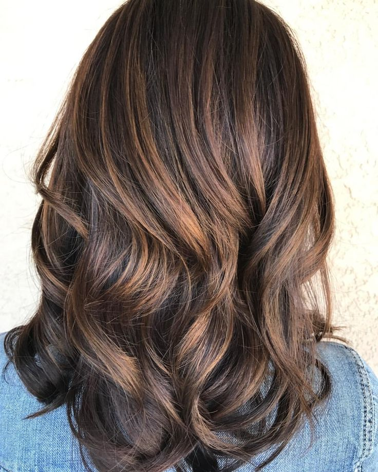 Beautiful cinnamon hair color. Balayaged to perfection. Haircut. See this Instagram photo by @laurenashleyshairart • 23 likes